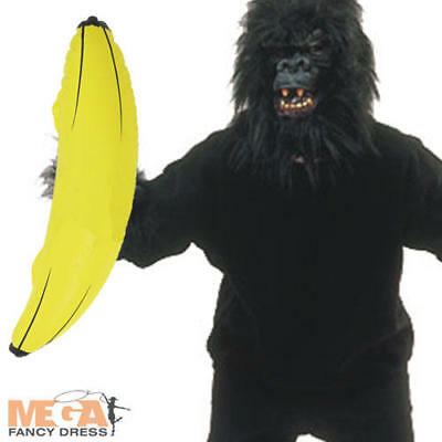 Monkey Banana Kostüm (Gorilla Monkey Ape Fancy Dress Costume + FREE Banana Animal Outfit + Full Mask)