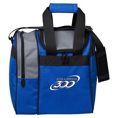 NEW Columbia Team C300 Single Tote Bowling Bag, Blue/Black/Silver