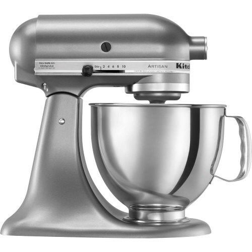 KitchenAid Stand Mixer tilt 5-QT RRK150 Artisan Tilt Choose The Beautiful Colors Silver SL