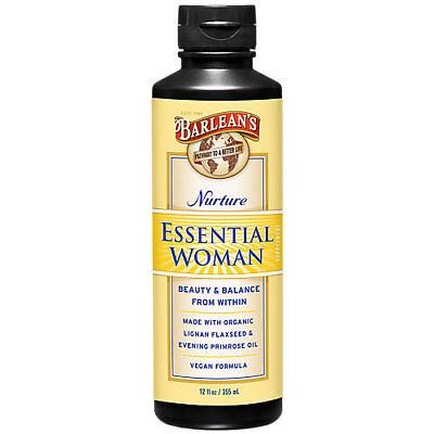 Barleans Organic Oils Essential Woman - 12 Fluid Ounces Liquid  Barleans Essential Woman Oil