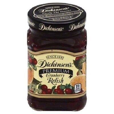 Dickinson's Cranberry Relish, 9.6 Oz, Pack of 6