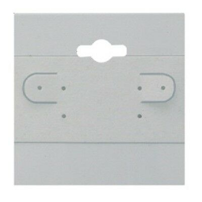 New 100 White Plain Hanging 2x 2 Earring Card Jewelry Display