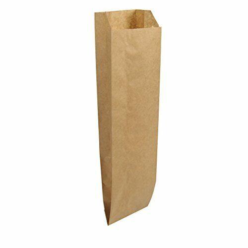 Duro ID# 40036 Quart Liquor Bag 35# Natural Kraft 500pk 4-1/2 x 2 -1/2 x 16