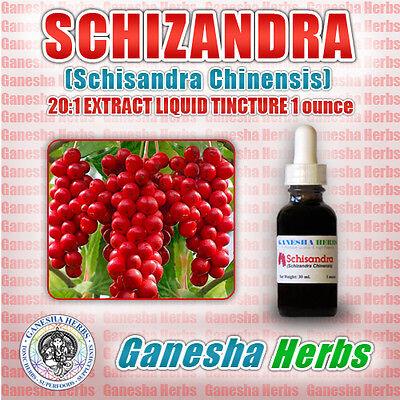 SCHIZANDRA (SCHISANDRA CHINENSIS)  EXTRACT LIQUID TINCTURE 1 oz HIGH POTENCY High Potency Liquid Extract