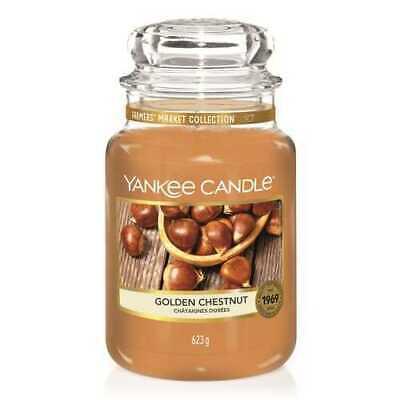 Yankee Candle Golden Chestnut Collezione Farmer's Market Giara Grande 110/ 150 h