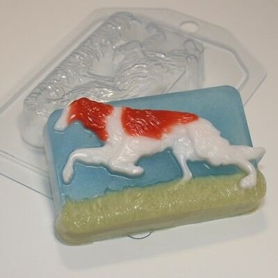 """Borzoi"" dog plastic soap mold soap making mold mould"
