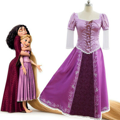 Tangled Princess Rapunzel Party Dress COSplay Costume Adult Costumes Halloween - Rapunzel Costume Women