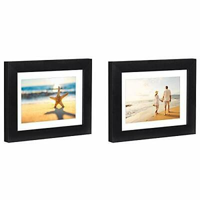 2 Pack Black Picture Frames with Easel- 4×6, 5×7, 6×8 Frames