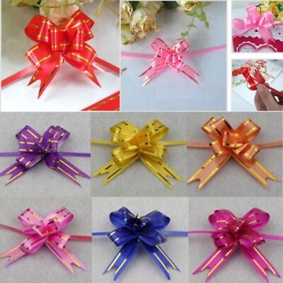 Best 50mm Multi , Silver 10-50 Party Xmas Gift Decors Pull Bowes Ribbon DIY