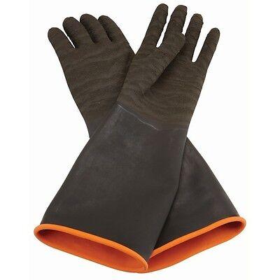 Rubber Abrasive Sand Blasting Gauntlet Gloves,Sandblasting,Media Blaster