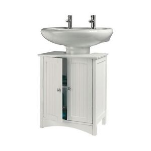 bathroom cabinet bath under sink storage unit white caddie