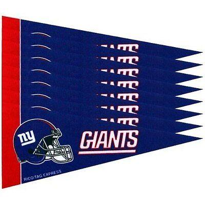 NEW YORK GIANTS 8 PIECE FELT MINI PENNANTS SET PACK NFL FOOTBALL - New York Giants 8 Piece