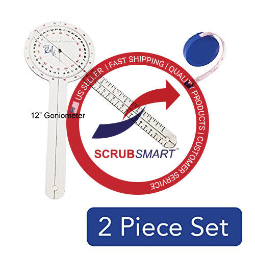 """Brand New Goniometer 12"""" and Body Tape Measure with Free Shiping - 2 Item Bundle"""