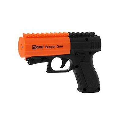 Mace Pepper Gun 2.0 With Strobe Led And Integrated Picatinny Rail (Black)