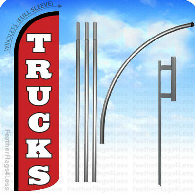 Trucks Windless Swooper Flag Kit Feather Banner Auto Car Lot Dealer Sign 15 Rz