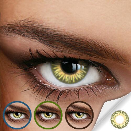 Jahres Farbige Kontaktlinsen RAINBOW PURE HAZEL - (+/- 0.00 ohne Dioptrien)