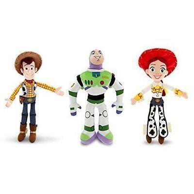 Disney Toy Story - Woody, Buzz Lightyear, and Jessie - Plush Doll Set of 3 - Woody And Buzz And Jessie