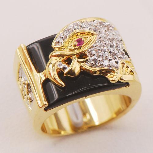Black yx Ring Gold