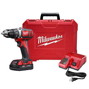 milwaukee m18 18v li ion compact 1 2 drill driver 2606. Black Bedroom Furniture Sets. Home Design Ideas