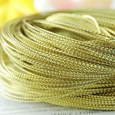 100 yards 1mm Gold Metallic Thread String Cord DIY Jewelry Beading Craft - Gold String