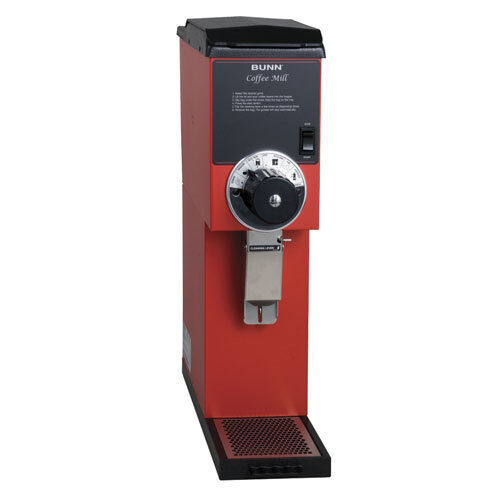 Coffee Bean Grinder - 3 lb. Hopper Capacity - Red Finish