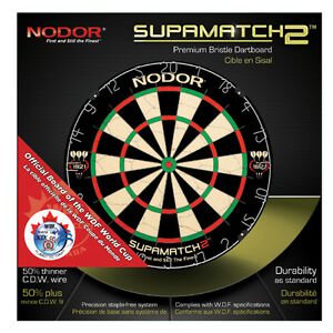 New Nodor Supamatch 2 Dartboard Dart Board Professional Pro
