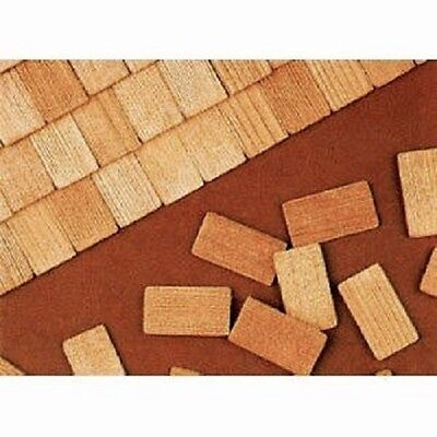 Doll House CEDAR SHAKE SHINGLES 300 pc/ Raw Material Wood Roofing /Craft Project