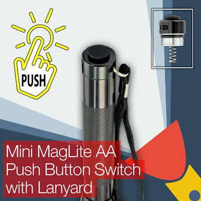 Mini MagLite AA Torch Flashlight Push Button (clicky) End Tail Cap Switch  Aa Tail Cap