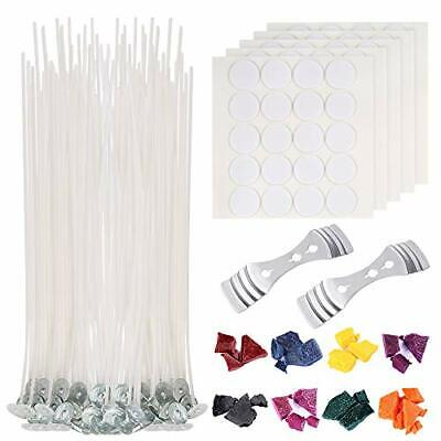 210 Pieces Candle Making Kit Supplies 100 PCS Candle Wicks  8 Colors Wax Candle