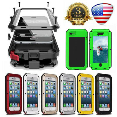 HEAVY DUTY Shockproof Bumper Metal Cover Case Waterproof for iPhone Xs Max Xr X