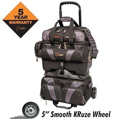 3b70dc3eb6 Hammer Premium 4 Ball Roller BLACK CARBON Bowling Bag