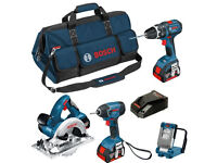Bosch 18v 4 Piece Kit 0615990G8P GSB/GDR/GKS/GLI 3 x Batts Cordless BRAND NEW WITH INVOICE £450!