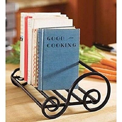 - Case Holder Book Storage Iron Book Stand Antique Table Top Magazine Holder 6""