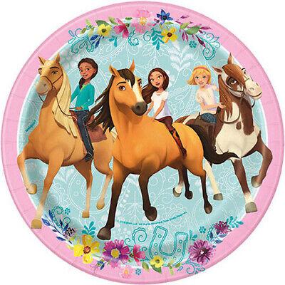 - SPIRIT RIDING FREE SMALL PAPER PLATES (8) ~ Birthday Party Supplies Cake Dessert
