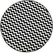 Round Zebra Rug