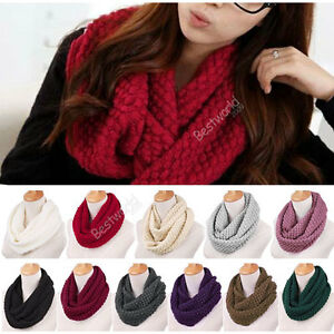 Fashion-Women-Warm-Knit-Neck-Circle-Wool-Cowl-Snood-Long-Scarf-Shawl-Wrap