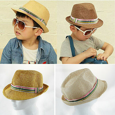 Adorable Boy/Girl Toddler Fashion Hipster Straw Fedora Hats Bright Colors OS US](Toddler Girl Fedora Hats)