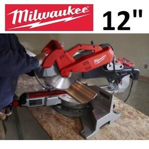 NEW MILWAUKEE COMPOUND MITRE SAW 6955-20 189379995 DUAL BEVEL SLIDING 12""