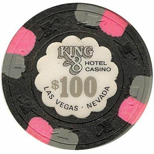 King 8 Casino Las Vegas NV $100 Chip 1980s