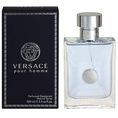 Versace Pour Homme by Gianni Versace 3.4oz Perfumed Deodorant for Men New In Box