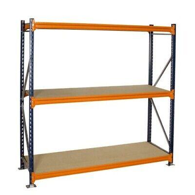 LONGSPAN SHELVING BAY (3 SHELF LEVELS) 2000H X 1840W X 600D Warehouse Racking 3 Bay Shelving