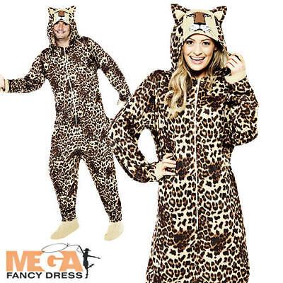 Jungle Leopard Adults Fancy Dress Safari Zoo Animal Book Day Mens Ladies - Jungle Book Fancy Dress Kostüm