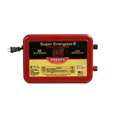 Parmak Super Energizer Electric Fence Controller - 50 Mile Range Se-5