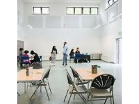 Bright and spacious hall for hire