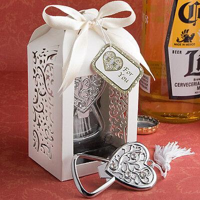 1 Heart Bottle Opener Wedding Bridal Shower Favor Spectacularly Packaged Party