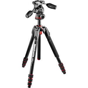 Manfrotto 190Go! Aluminum Tripod Kit with 3-Way Head