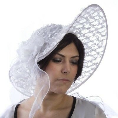 Ladies Kentucky Derby Southern Belle Hat White or Black