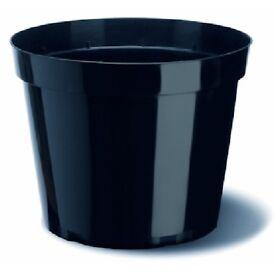 12L Plant Pot, Round Plastic Pot x 10