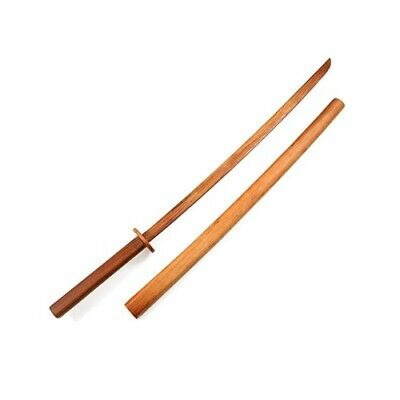 Hardwood Bokken Sword with Wooden Scabbard Daito Kendo Aikido Training Practice