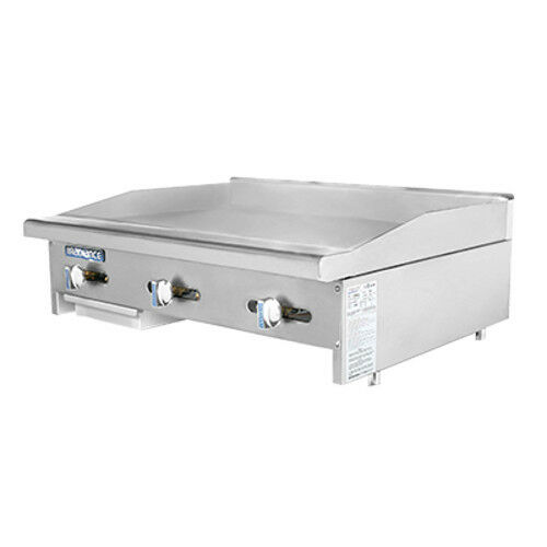 """Turbo Air Tamg-36 Radiance 36"""" Wide Countertop Gas Griddle"""